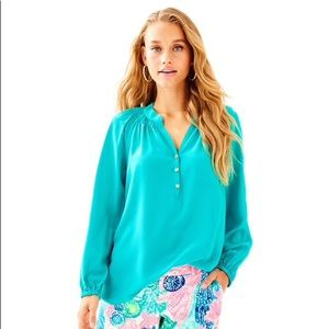 Lilly Pulitzer Elsa Top, Tropical Turquoise, S